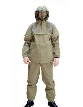 Костюм мужской летний КЛЕЩ СТОП хаки (куртка+брюки) с ловушками и сеткой