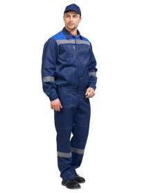 Костюм мужской летний ЛЕГИОН NEW темно-синий (куртка+полукомбинезон)