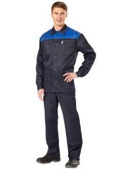 Костюм мужской летний СТАНДАРТ-Д т.синий/василек (куртка,брюки)
