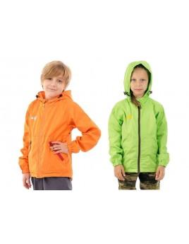 Куртка детская демисезонная ТРЭВЕЛ МАУГЛИ оранжевый и салатовый