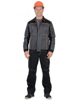 Куртка мужская летняя ПРЕСТИЖ т.серая/черный