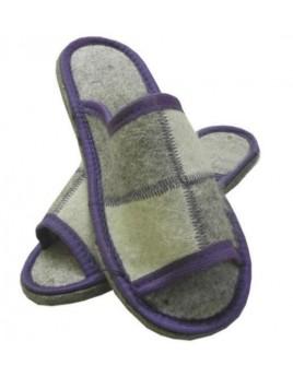 Пантолеты ШАХМАТКА с открытым носом резиновой подошве