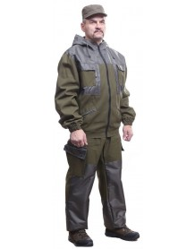 Костюм мужской демисезонный БОЕЦ-ХАСКИ палатка + накладки Оксфорд