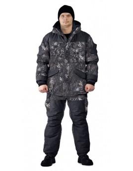 Костюм мужской зимний ГЕРКОН до-40ºС кмф черный питон (куртка/брюки)
